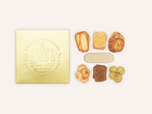 Boite Golden Box Composition Maison Dandoy