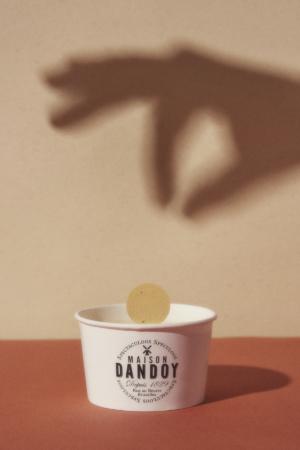 Glace Pot Opercule Ombre Mains Maison Dandoy