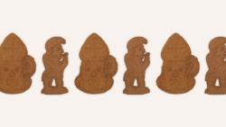 Figurines en speculoos spécial Saint Nicolas.