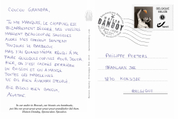 Carte Postale Agathe Philippe Texte Maison Dandoy