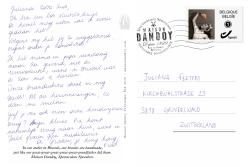 Carte Postale Fred Juliana Texte Maison Dandoy