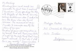 Carte Postale Hanne Philippe Texte Maison Dandoy