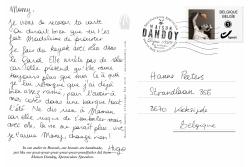 Carte Postale Hugo Hanne Texte Maison Dandoy