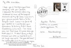 Carte Postale Juliana Agathe Texte Maison Dandoy