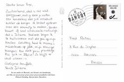 Carte Postale Juliana Fred Texte Maison Dandoy