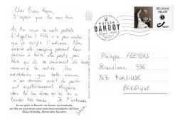 Carte Postale Sara Philippe Texte Maison Dandoy