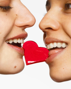 Coeur Grenat Elle Et Elle 2 Maisondandoy