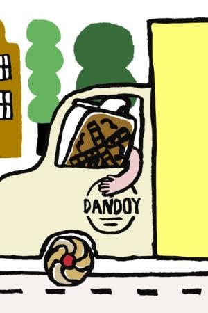Illustration Camion Livraison Livreur Tenant Speculoos