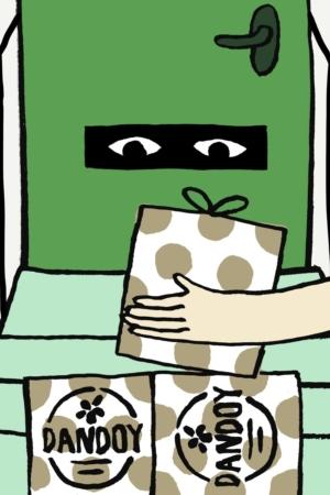 Illustration Livraison Paquet Biscuits Dandoy Pas De Porte