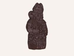 Saint Nicolas Speculoos Chocolat 20Cm Maison Dandoy