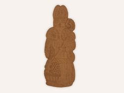 Saint Nicolas Speculoos Chocolat 50Cm Maison Dandoy