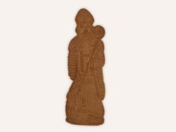 Saint Nicolas Speculoos Chocolat 80Cm Maison Dandoy