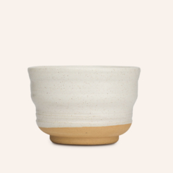 White enamel bowl from Atelier Pierre Culot.