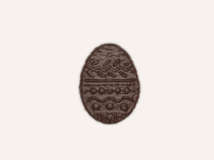 Small speculoos chocolate egg